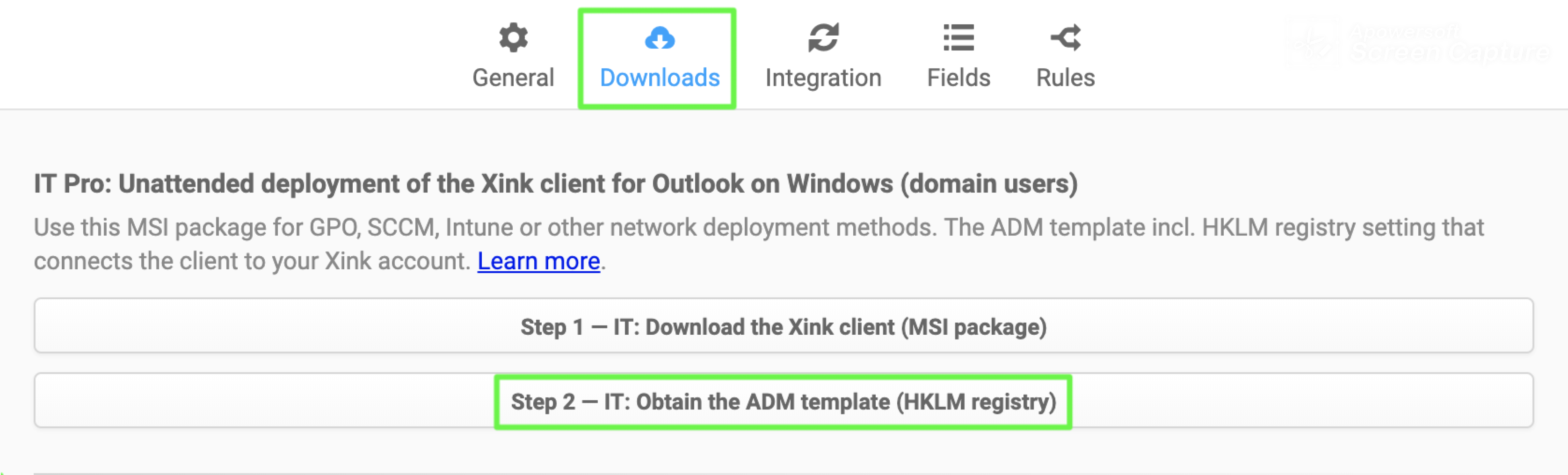IT Pro: Deploy Xink ADM File via GPO Template (Xink Token ID