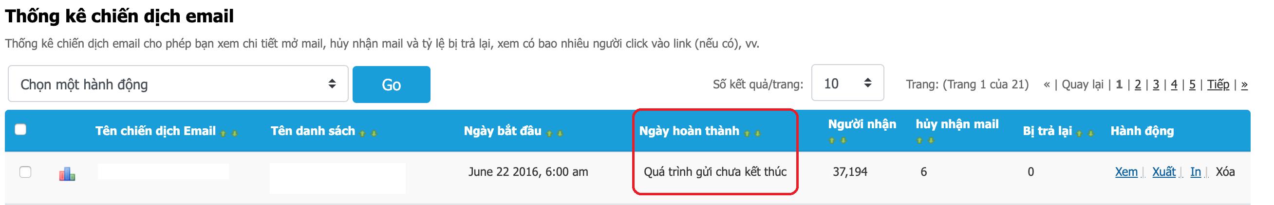 Chiến dịch Email Marketing bị chặn trên phần mềm Zetamail