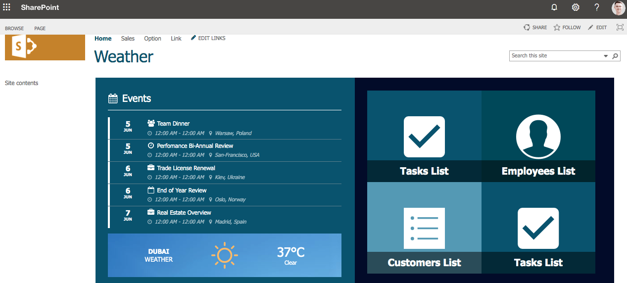 How to Present a Weather Widget on Your Page : Support Center