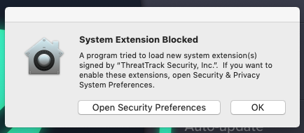"A ""System Extension Blocked"" message."