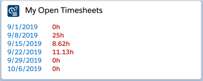 My Open Timesheets