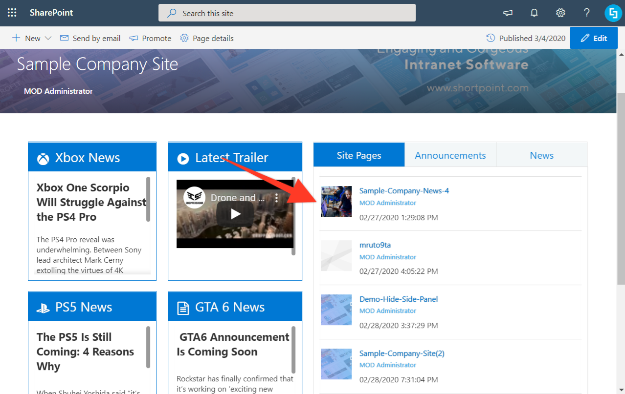 How To Add Banner Thumbnails In Shortpoint Design Elements Support Center