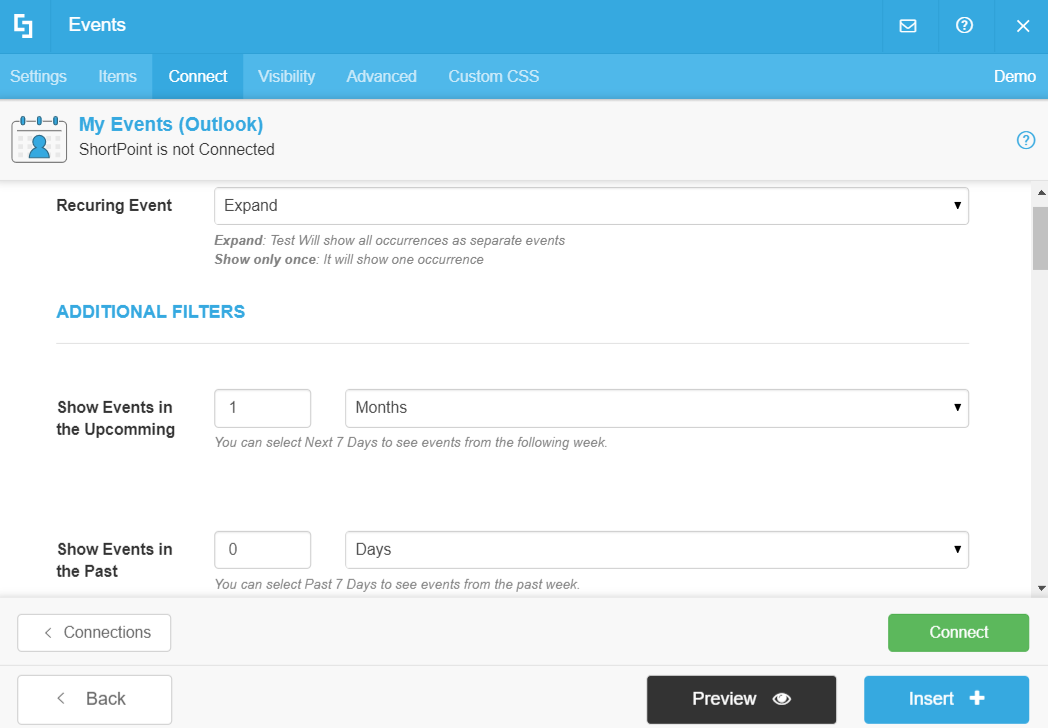 Outlook inputs