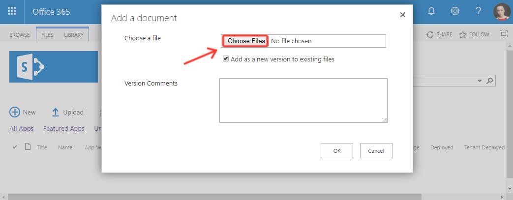 Click Choose Files