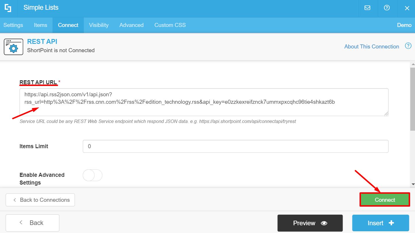 REST API URL