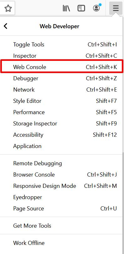 Select Web Console