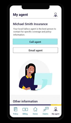 safeco mobile app interface