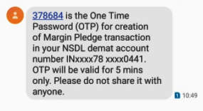 SMS OTP 1 Understanding the new margin pledge system