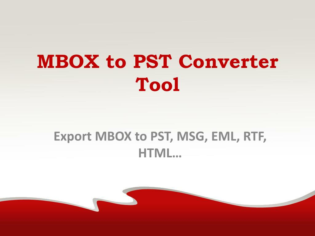 mbox to pst converter to export mbox to pst