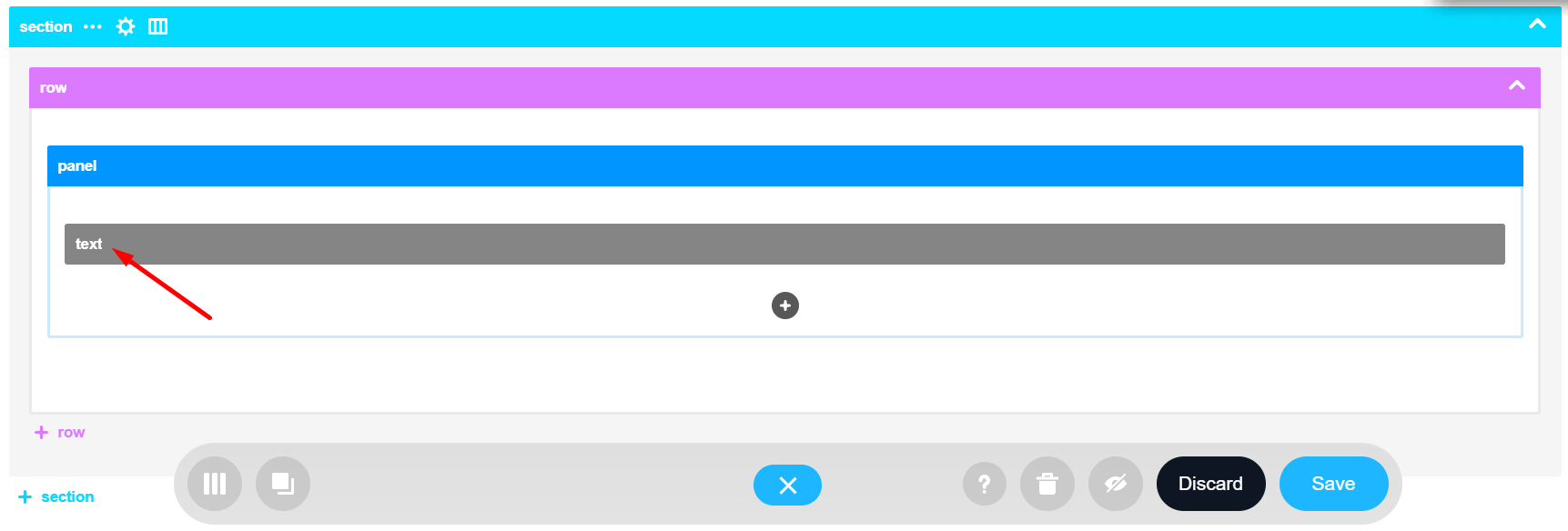 Text Design Element is added as a result