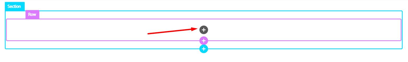 Insert button inside the Column