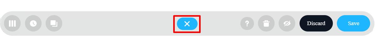 collapse button