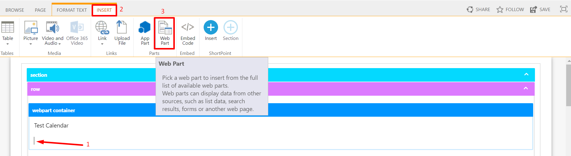 Adding SharePoint Web Part inside the Webpart Container