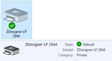 Zebra LP 2844 Set-Up For Windows : ScanPower Support