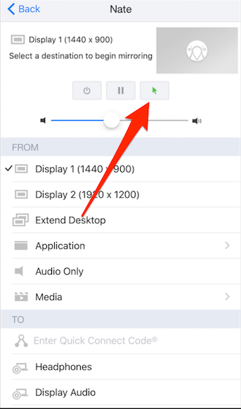 How do I control my computer using AirParrot remote