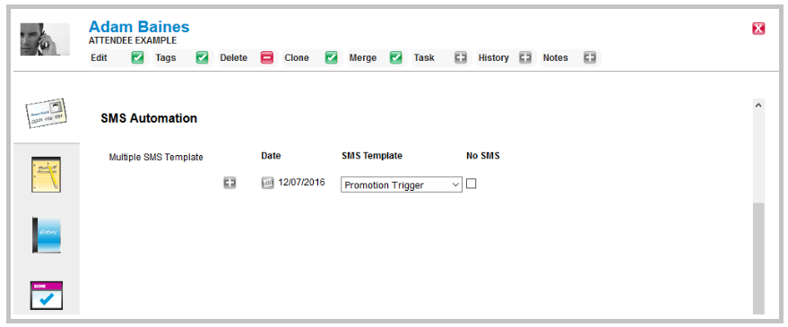 Setting up SMS templates that are fixed or editable : icomplete