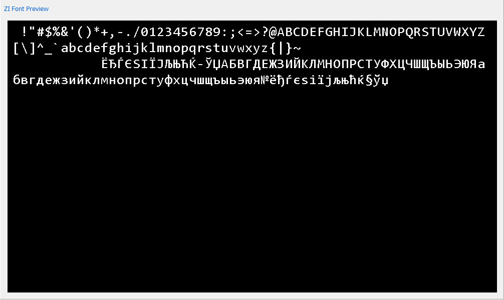 Let me know if this is the characters you are looking for (zi font file attached) if so my zi editor can help. zi. iso8859-516x.  sc 1 st  ITEAD Studio & Cyrillic text support : ITEAD Studio