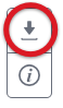 Panel shows two icons; the top one, used to open the menu for downloading and printing, is circled.