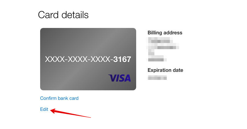 How to change credit card at Paypal :