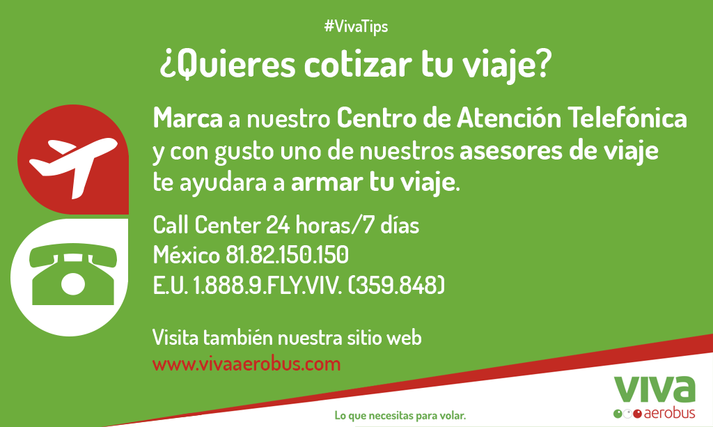 Cu les son los tel fonos del call center de vivaaerobus for Envialia horario oficina