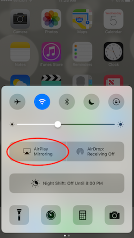 How to mirror with AirPlay on iOS 10 : Squirrels Support