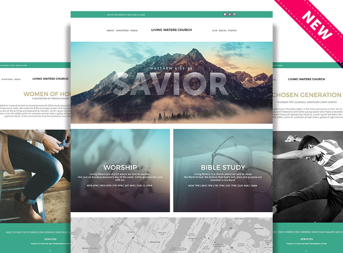 New Website Theme - Living Waters : Sharefaith Support