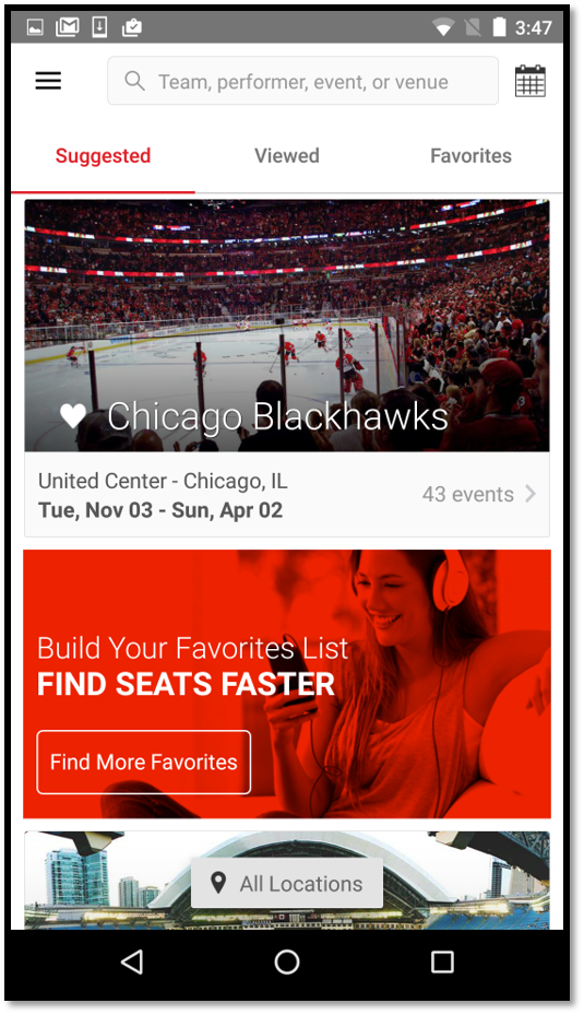 how do i create a ticket listing in the mobile app vivid seats