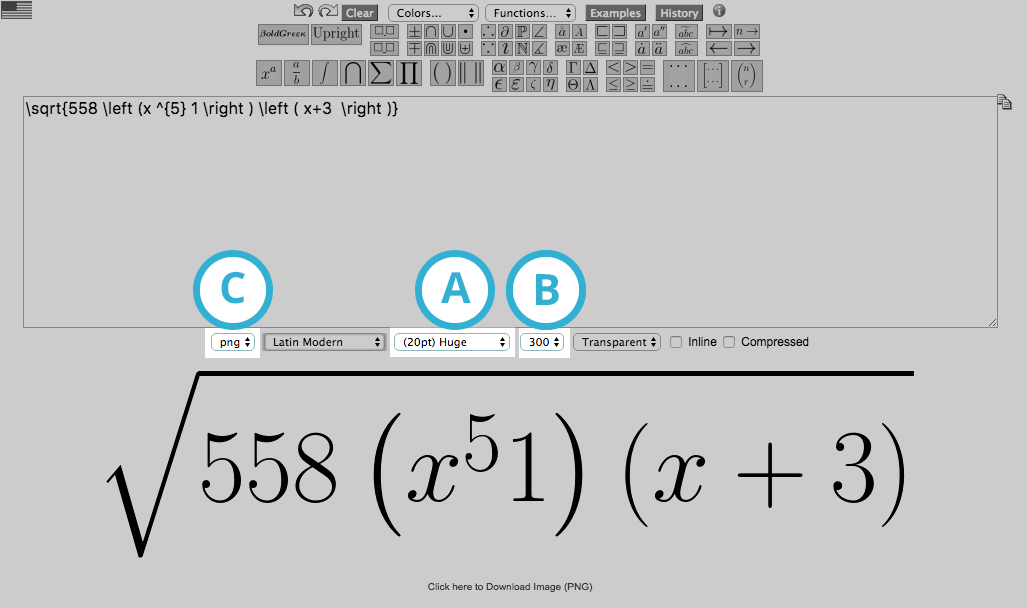 Add mathematical formulae : VideoScribe