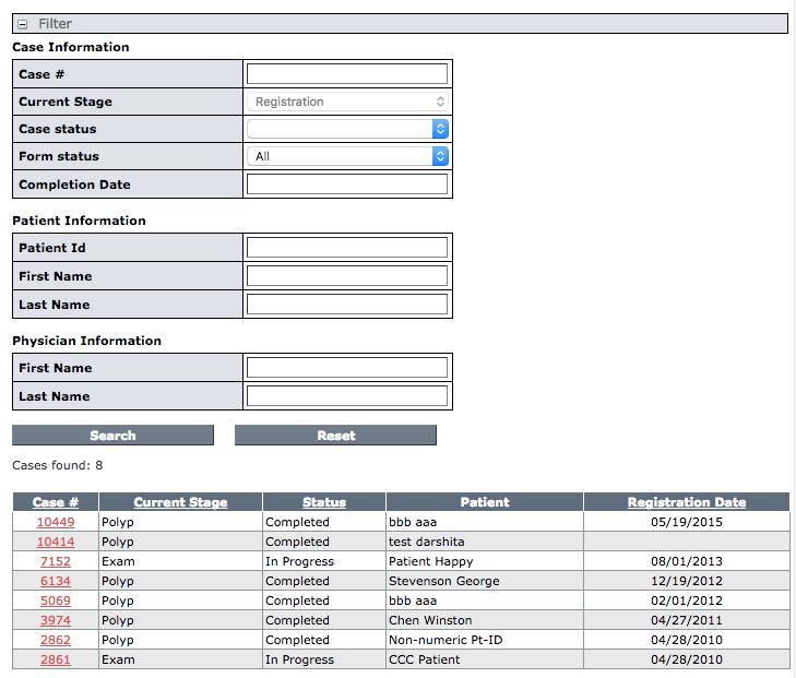 CTC Case Registration Form : NRDR - National Radiology Data ...