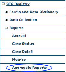 CTC Reports Menu - Aggregate Reports