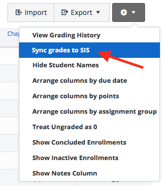 Publish Grades to SIS