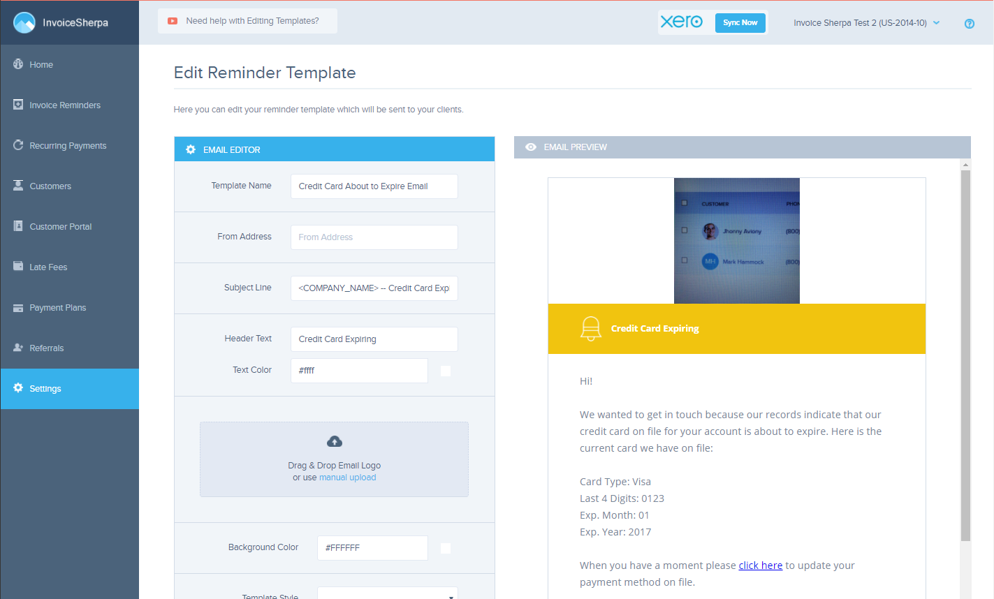 A Sample Edit Reminder Template Screen Is Illustrated Below The Left Side Allows You To And Right Preview