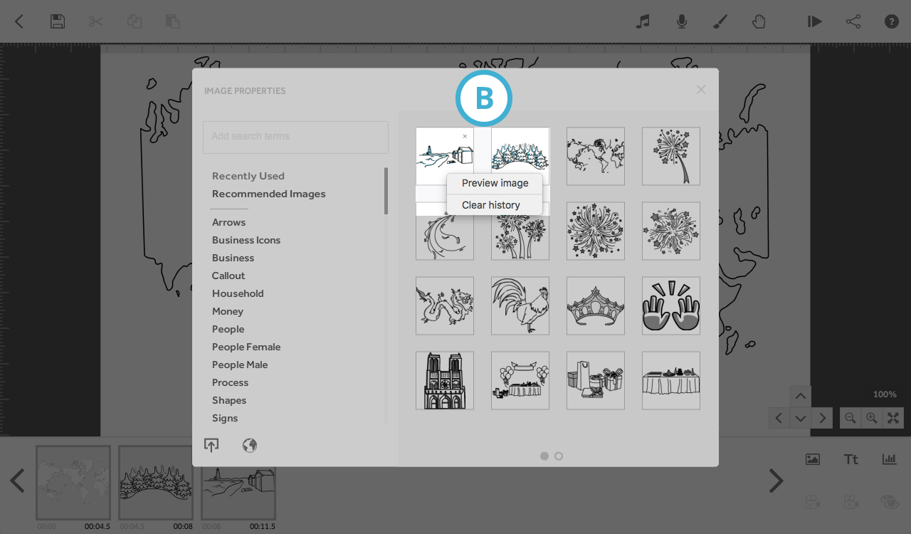 Library images will not preview or load : VideoScribe