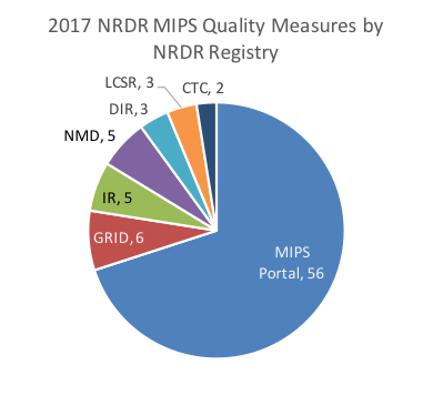 MIPS and Non-MIPS Measures Pie Chart
