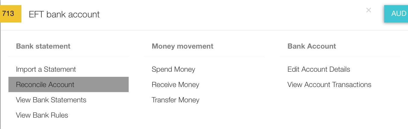 Bank Accounts : DEAR Support Team