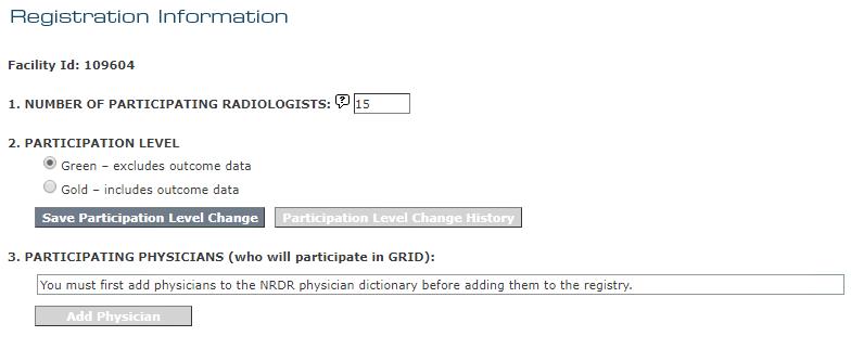 GRID Registration Detail