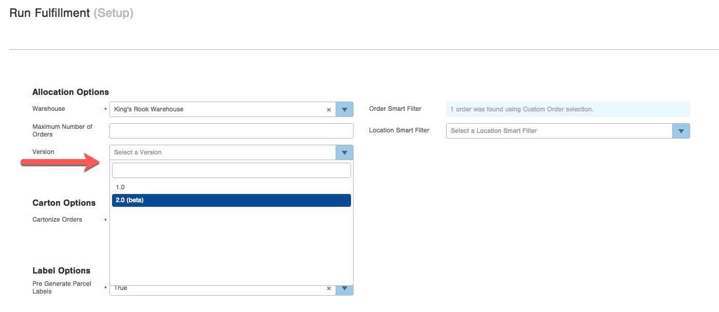 Fulfillment Processing version 2 0 : Infoplus Support