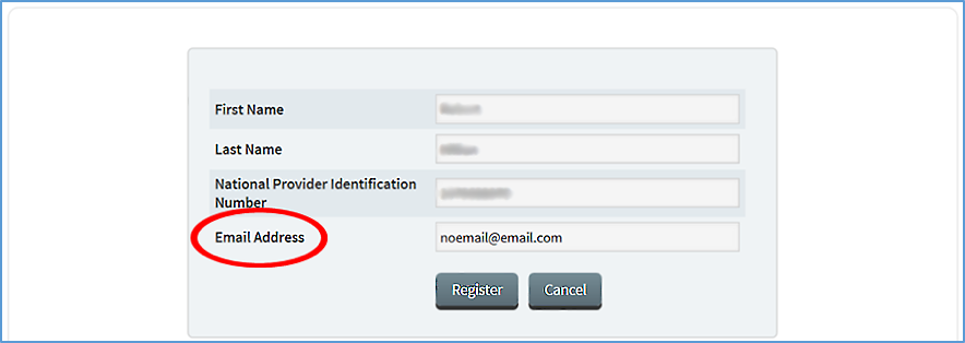 MIPS Registration - Verify NPI and Email