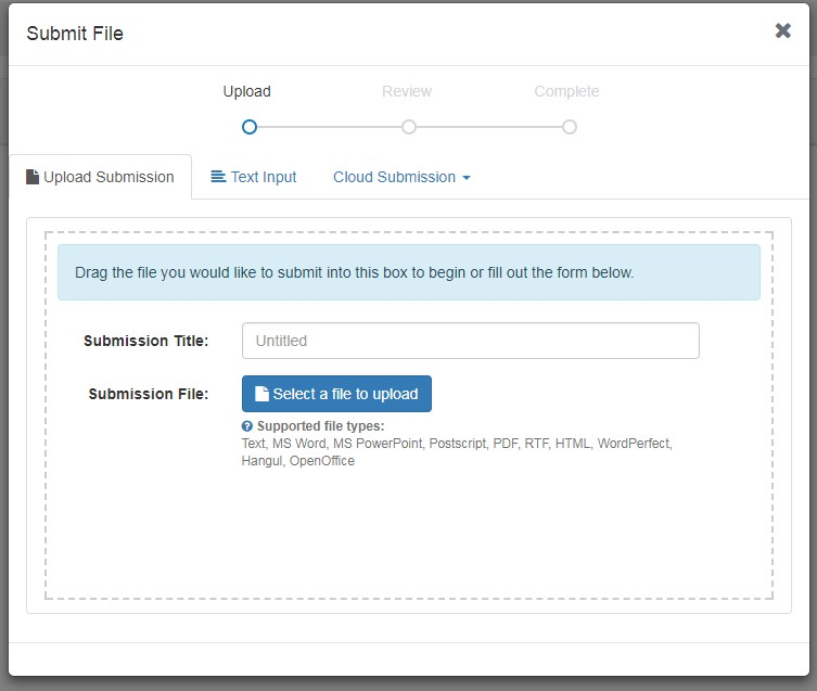 how to upload to turnitin
