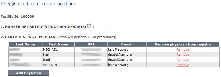 LCSR Registration Information Page