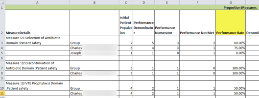 MIPS Performance Report - Excel Download