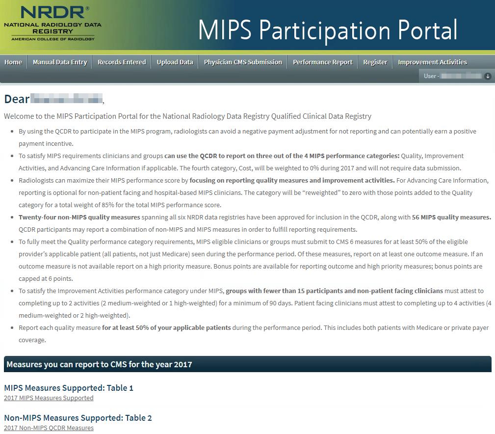 MIPS Portal Homepage