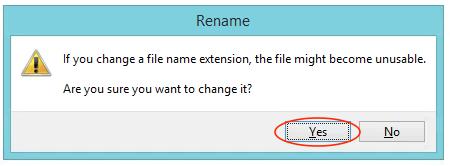 Rename Filename Extension Warning Message