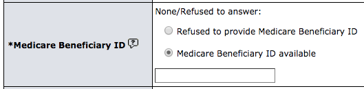 LCSR Exam Form - Medicare Beneficiary ID
