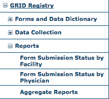 GRID Reports Menu