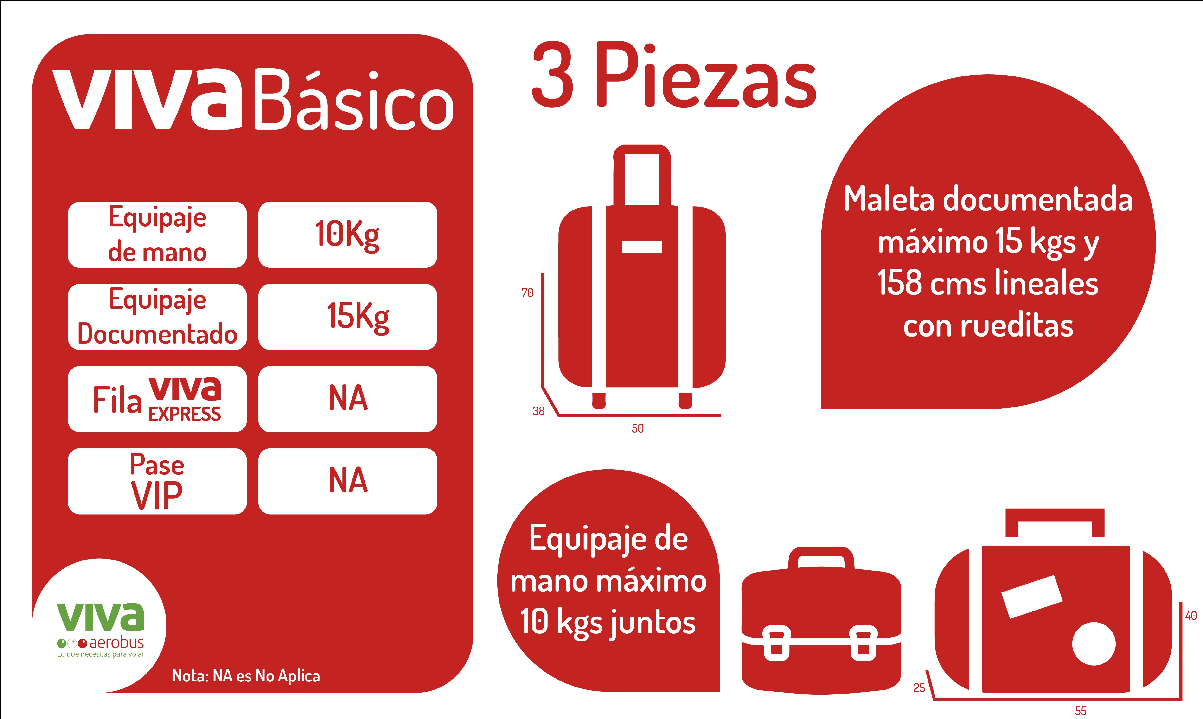 34ce399d0 Los pasajeros también podrán documentar una maleta de hasta 15 kilogramos y  158 centímetros lineales.