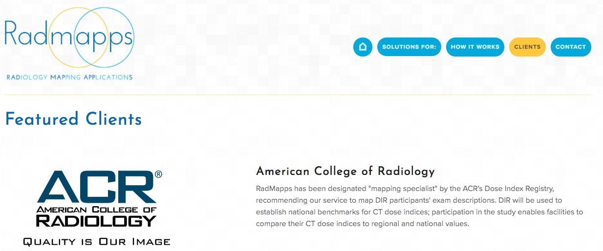 Radmapps Featured Clients