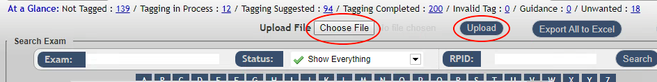 DIR ENMT Upload Tool - Choose File