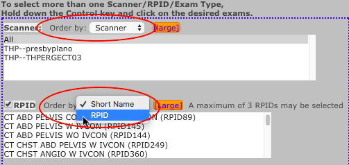 DIR SDIR - Scanner and RPID Order By Dropdown Lists