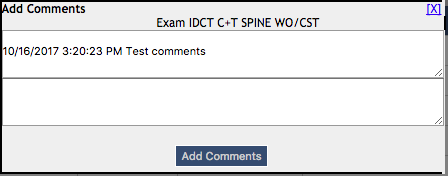 DIR ENMT - Show Test Comments